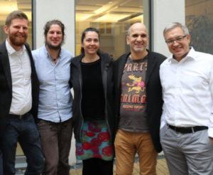 Andreas Sallam (2.v.r.) zusammen mit dem Beirat des Greennet Projects.